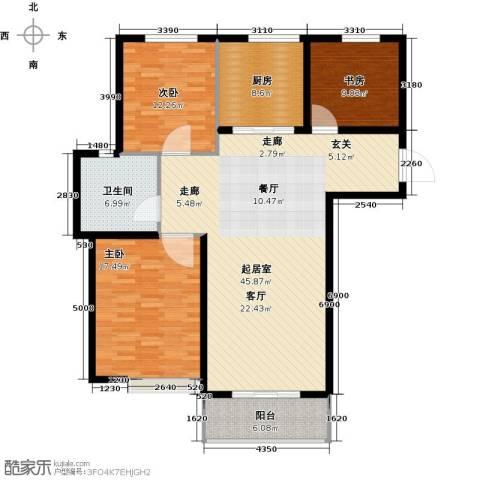 圣博・未来城3室0厅1卫1厨148.00㎡户型图