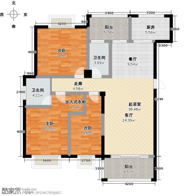 江华・国际农贸港户型3室2卫1厨