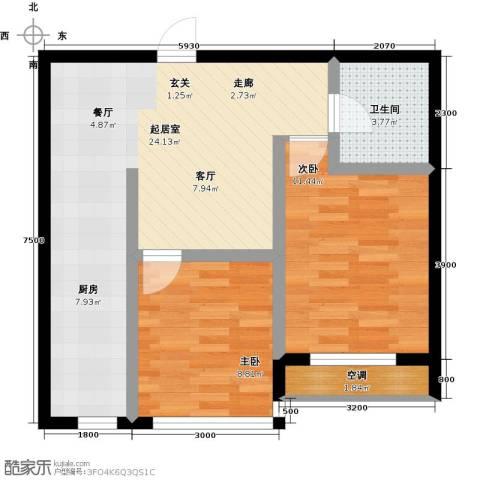 元基首府2室0厅1卫0厨73.00㎡户型图