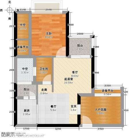 悦盈新城1室0厅1卫1厨73.00㎡户型图
