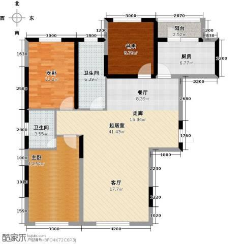 万星幸福城3室0厅2卫1厨129.00㎡户型图