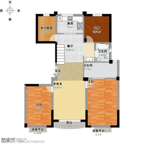 维科龙湾府3室1厅2卫1厨138.00㎡户型图