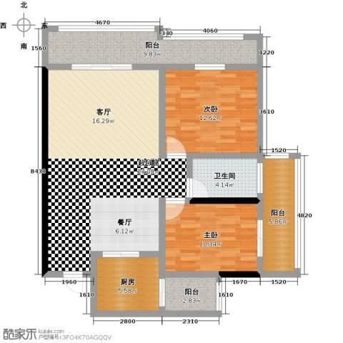 昌泰千秋大厦2室0厅1卫1厨102.00㎡户型图
