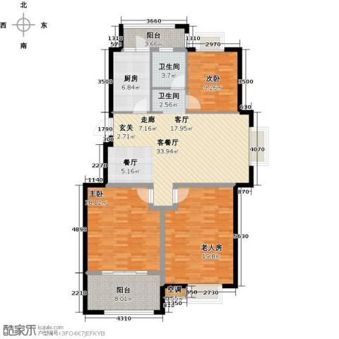 香水郡3室1厅1卫1厨146.00㎡户型图