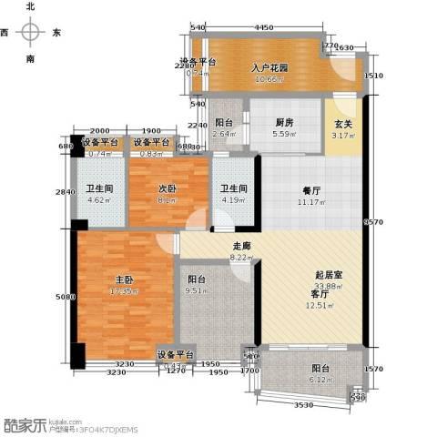 悦盈新城2室0厅2卫1厨120.00㎡户型图