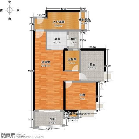 悦盈新城1室0厅1卫1厨91.00㎡户型图