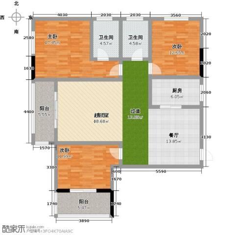 昌泰千秋大厦3室0厅2卫1厨135.00㎡户型图