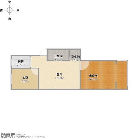 宁工二村1室1厅1卫1厨62.00㎡户型图
