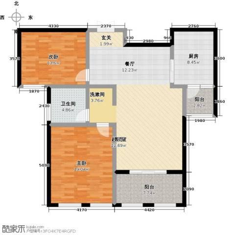 北海公馆2室0厅1卫1厨137.00㎡户型图