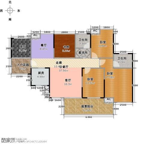 城央一品1室1厅2卫1厨165.00㎡户型图