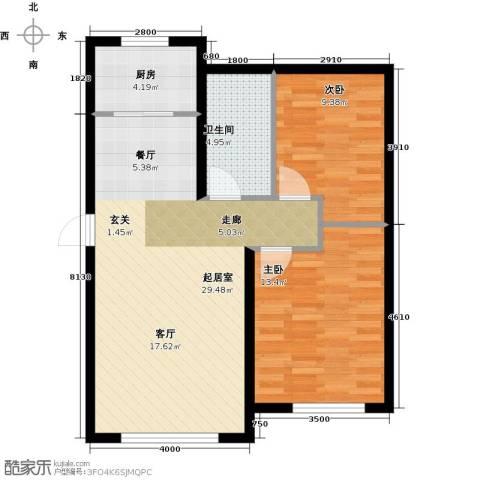 欧尚广场2室0厅1卫1厨82.00㎡户型图