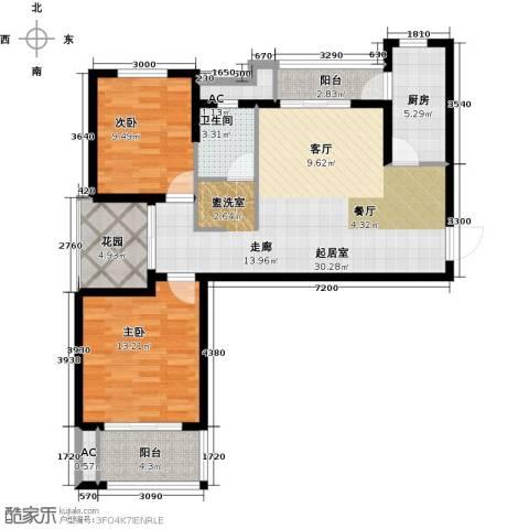 恒信中央公园2室0厅1卫1厨94.00㎡户型图