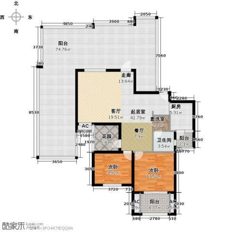 恒信中央公园2室0厅1卫1厨164.22㎡户型图