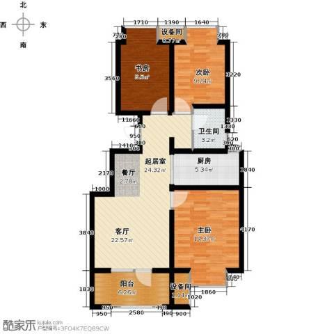 荣盛・香缇澜山3室0厅1卫1厨89.00㎡户型图