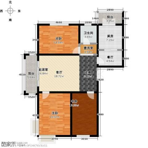 大正莅江3室1厅1卫1厨145.00㎡户型图