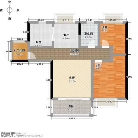 ��佳苑2室0厅1卫1厨85.41㎡户型图