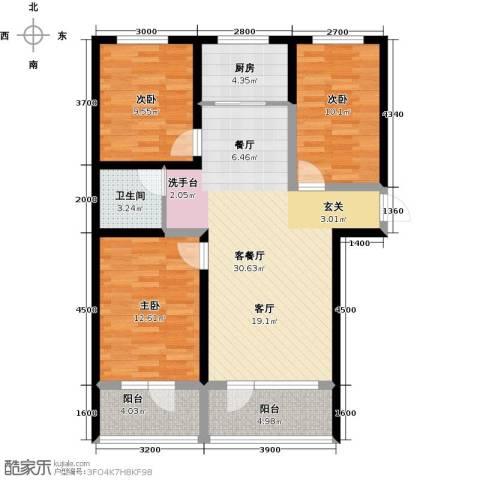 恒景・溪山壹�3室1厅1卫1厨115.00㎡户型图