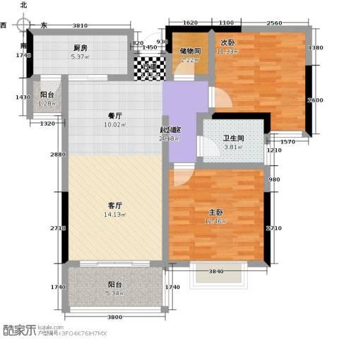 ��佳苑2室0厅1卫1厨83.29㎡户型图