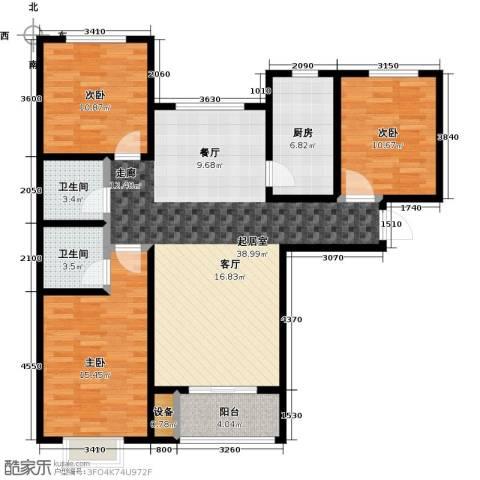 丽晶名邸3室0厅2卫1厨126.00㎡户型图