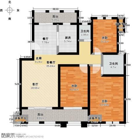 叶与城3室1厅2卫1厨152.00㎡户型图