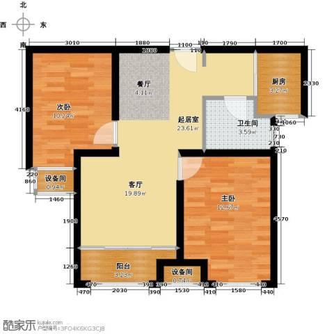 荣盛・香缇澜山2室0厅1卫1厨79.00㎡户型图