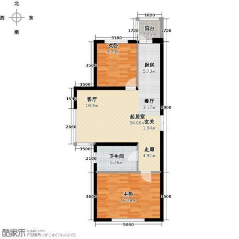 开美国际2室0厅1卫0厨96.00㎡户型图