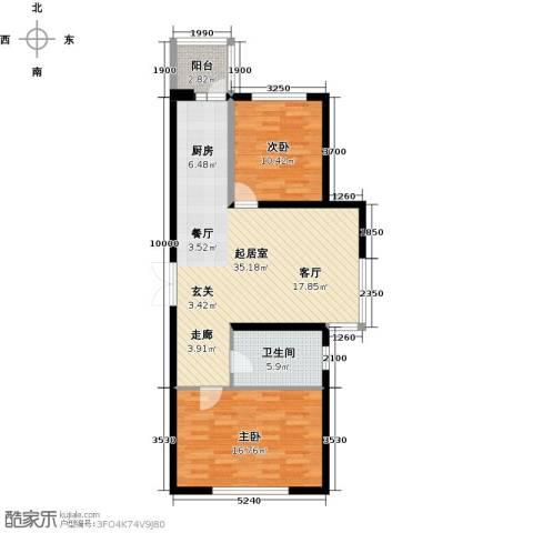 开美国际2室0厅1卫0厨100.00㎡户型图