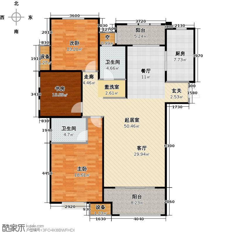 绿地新里・爱丽舍公馆136.00㎡二期H2户型3室2厅2卫1厨户型3室2厅2卫