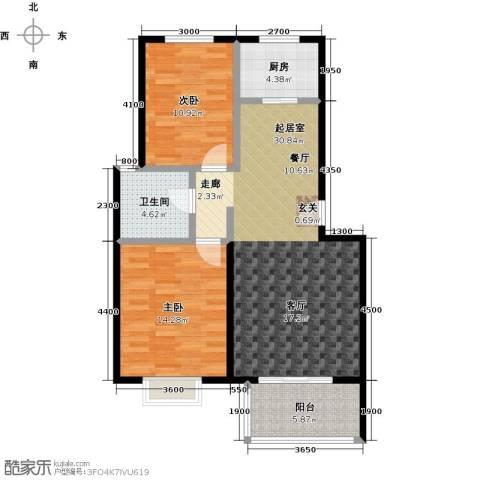 晟地绿园2室0厅1卫1厨87.00㎡户型图