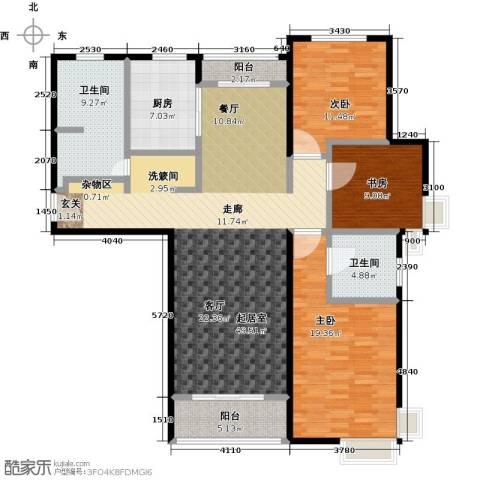 兆通华苑3室0厅2卫1厨138.00㎡户型图