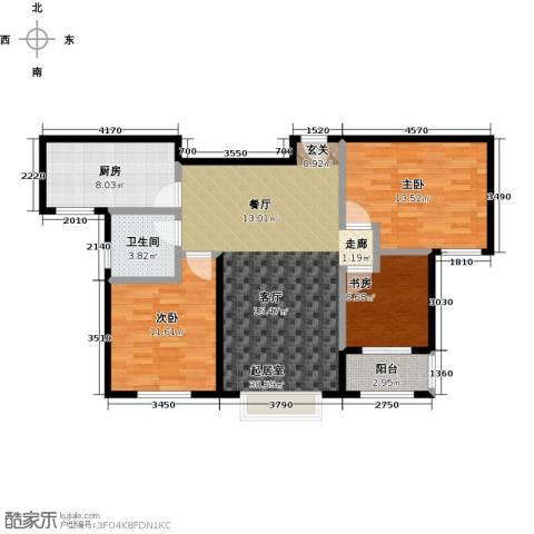 兆通华苑3室0厅1卫1厨93.00㎡户型图
