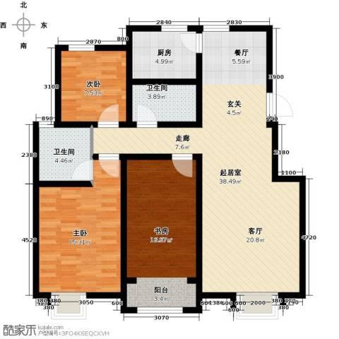 首创康桥郡3室0厅2卫1厨125.00㎡户型图