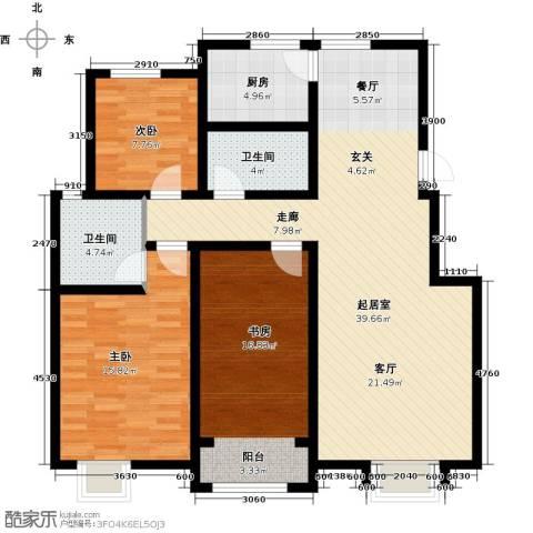 首创康桥郡3室0厅2卫1厨120.00㎡户型图
