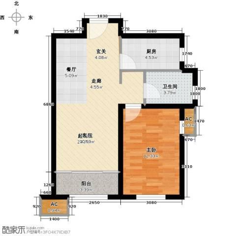 经纬城市绿洲武清二期1室0厅1卫1厨69.00㎡户型图