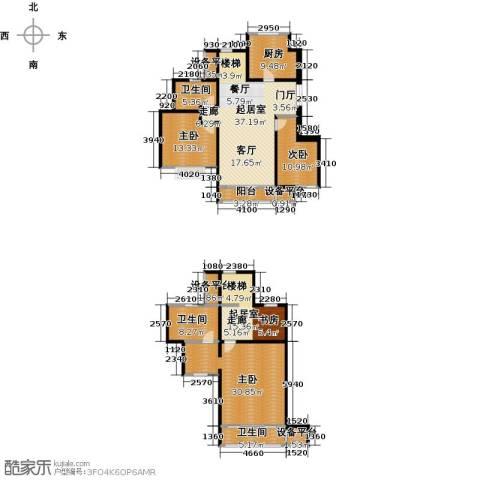吉宝季景兰庭3室0厅3卫1厨206.00㎡户型图