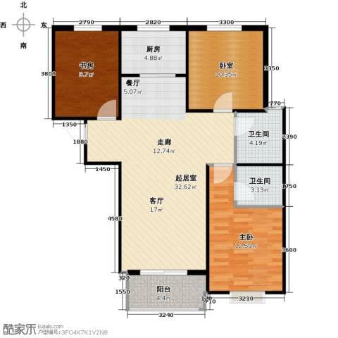 凌透花园2期2室0厅2卫1厨112.00㎡户型图