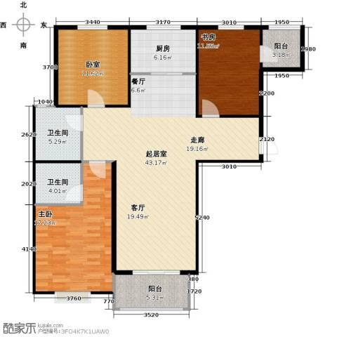 凌透花园2期2室0厅2卫1厨146.00㎡户型图