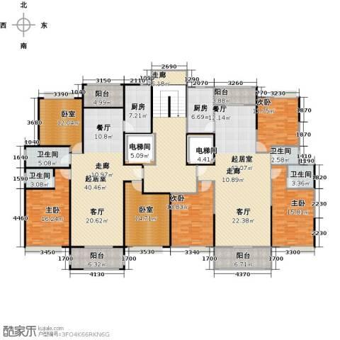 荔城花园4室0厅4卫2厨340.00㎡户型图