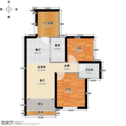 三亚清平乐西郡2室0厅1卫1厨83.00㎡户型图