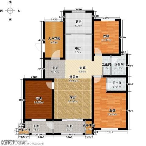 河东岸3室0厅2卫1厨188.00㎡户型图