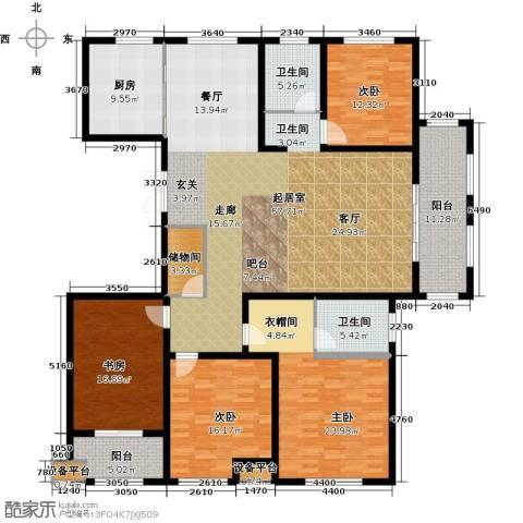 河东岸4室0厅2卫1厨250.00㎡户型图