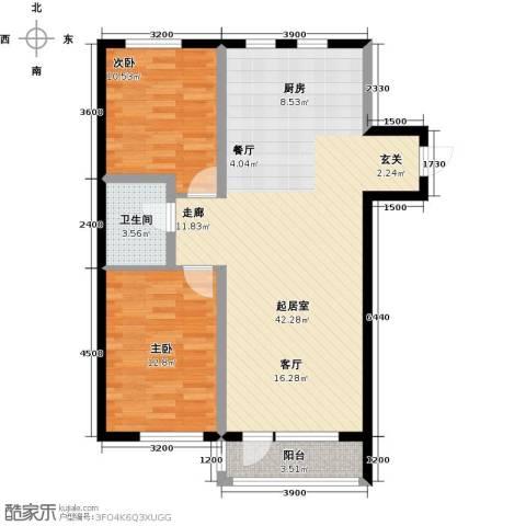 元基首府2室0厅1卫0厨102.00㎡户型图