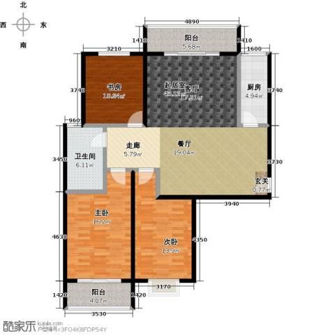 兆通华苑3室0厅1卫1厨122.00㎡户型图