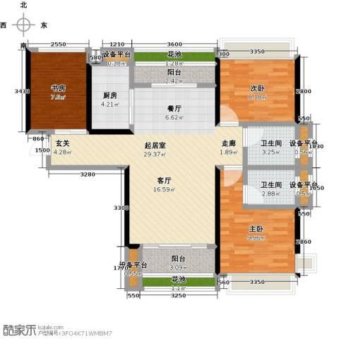 太东・明月湾3室0厅2卫1厨92.00㎡户型图
