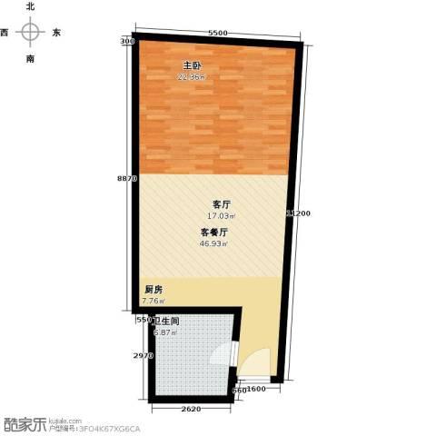 深圳湾1厅1卫0厨59.00㎡户型图
