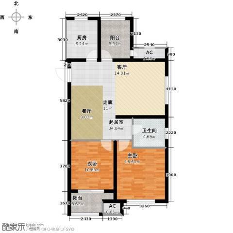 道成广场2室0厅1卫1厨101.00㎡户型图