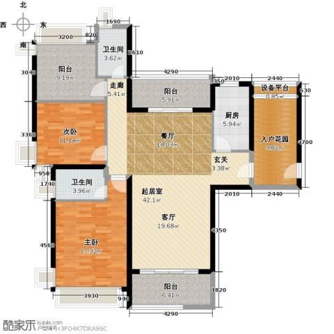 悦盈新城2室0厅2卫1厨132.00㎡户型图