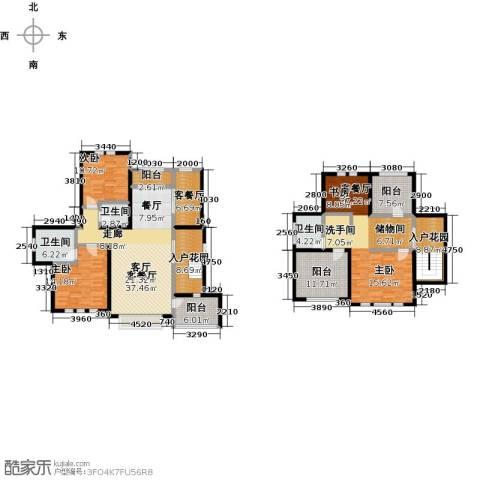 绿地大溪地2室3厅3卫0厨191.00㎡户型图