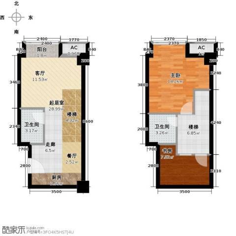 YOHO湾2室0厅2卫0厨65.52㎡户型图
