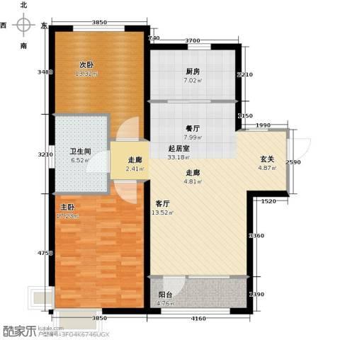 亚泰津澜2室0厅1卫1厨114.00㎡户型图